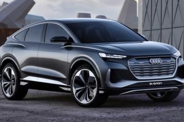 2021年量产上市出售奥迪Q4E-Tron轿跑概念车正式露脸